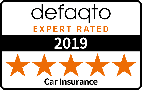 Defaqto 5 star rating 2019 car insurance logo