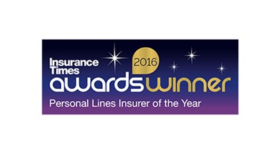 Insurance times 2016 awards winner, personal lines insurer of the year