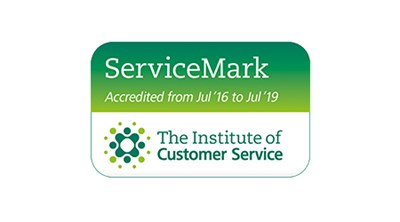 The Instituite of Customer Service ServiceMark award accredited from July 2016 to July 2019