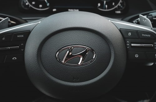 Hyundai steering wheel