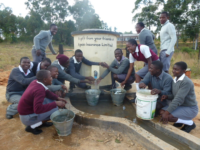 Helping build water wells in Africa