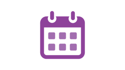 Icon of a purple calendar