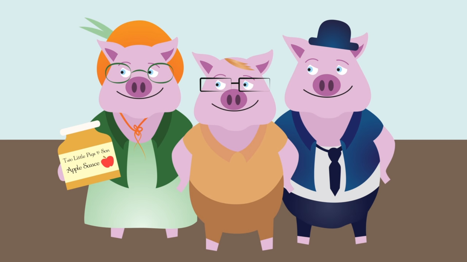 Three little pigs BIBA animation