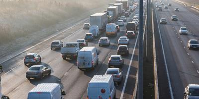 Photo of a busy stretch of motorway