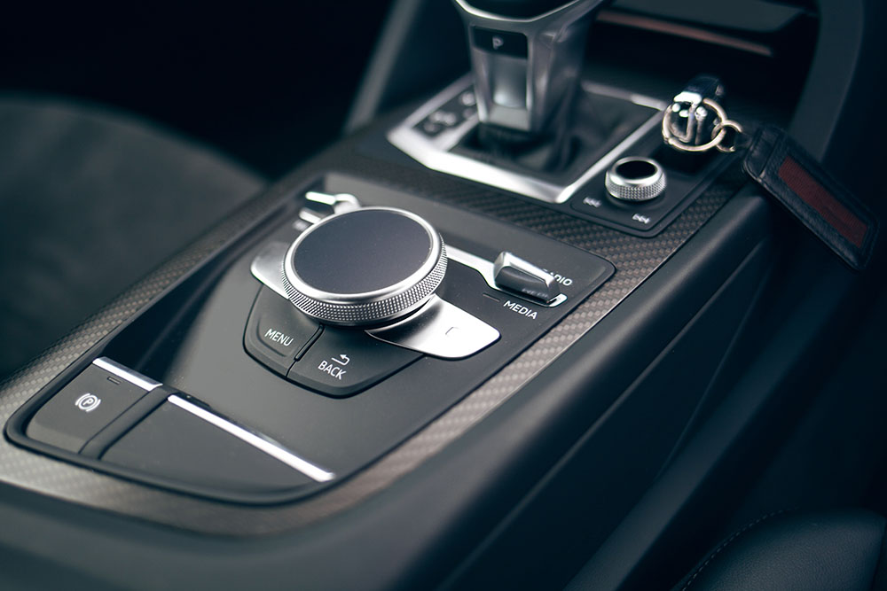 Audi black car centre console