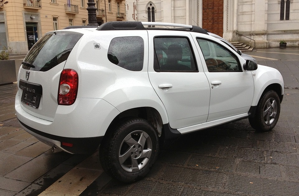 White Dacia Duster