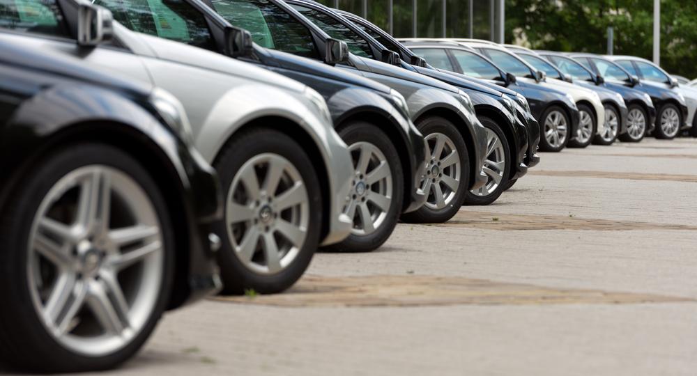 A row of Ford Puma cars