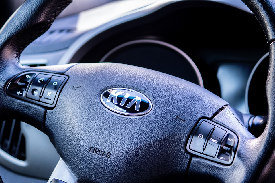 Kia car steering wheel