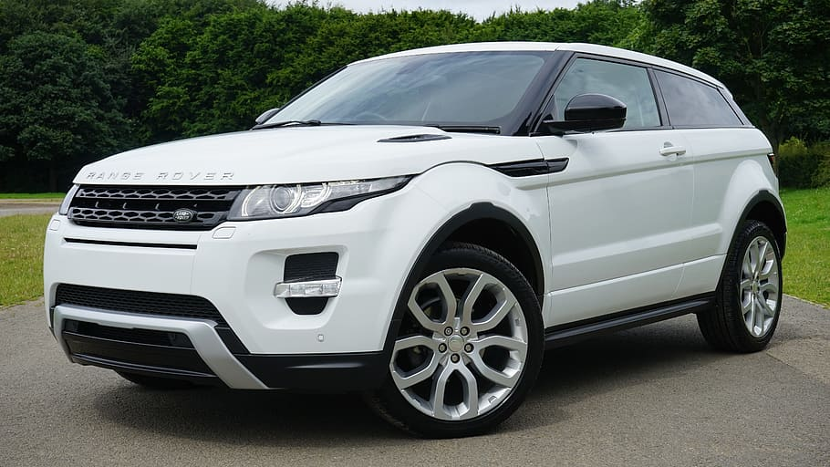 White land rover discovery