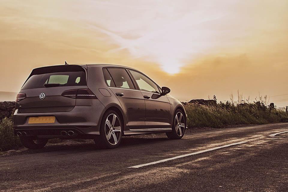Volkswagen golf in sunset