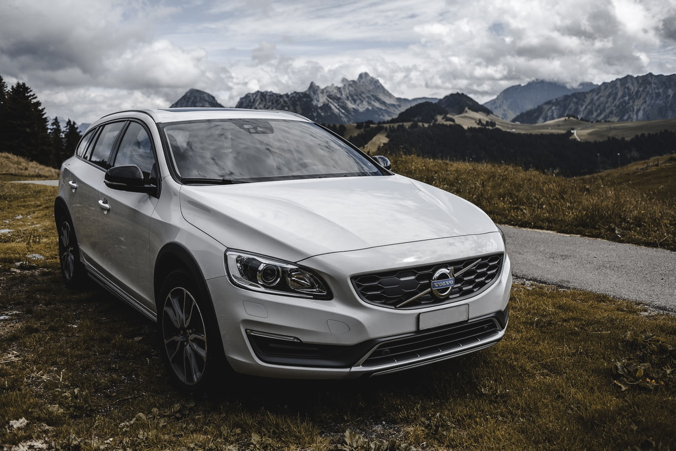 Silver Volvo car