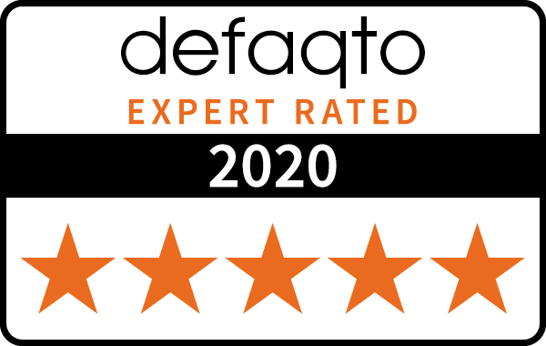 Defaqto 5 star rating 2020 car insurance logo