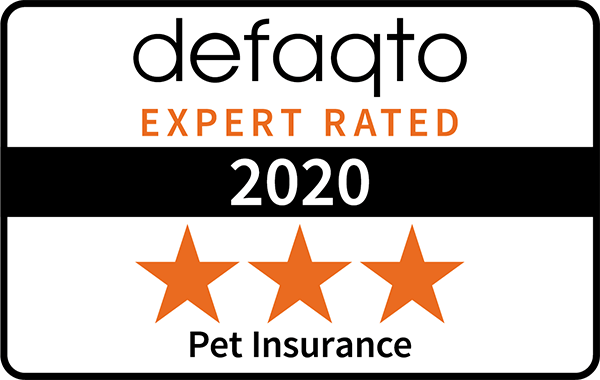 Defaqto 2019 logo 3 star rating pet insurance