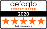Pet insurance 5 star Defaqto rating