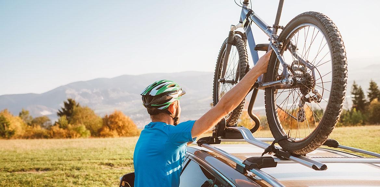 lifting bike onto car rack