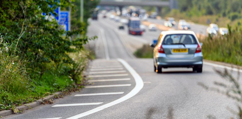 car driving road