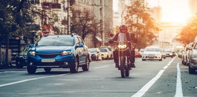 motorbike road cars