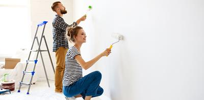 woman drilling home