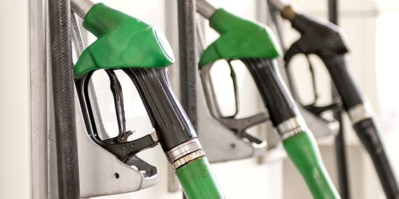pumps at a petrol station