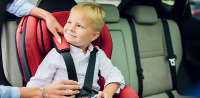 boy child car seat