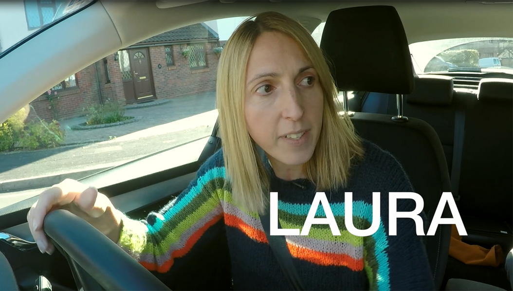 Laura takes the fuel efficiency test