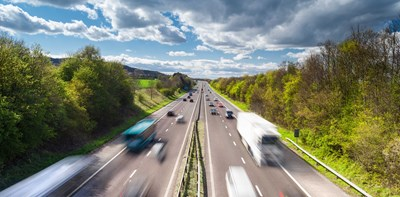 cars busy motorway