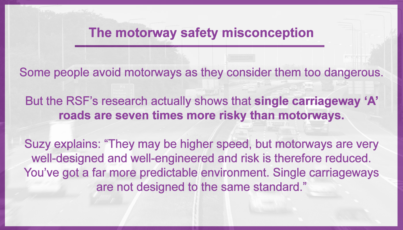 Motorway safety misconception