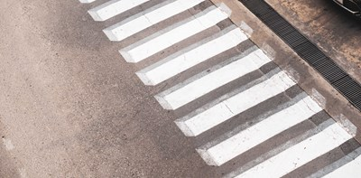road zebra crossing