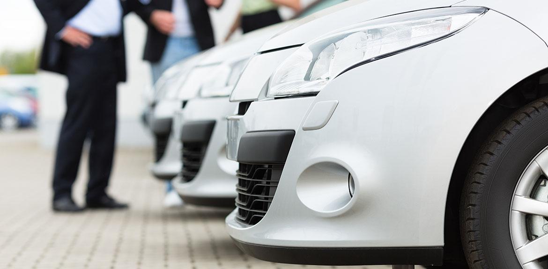 silver cars showroom