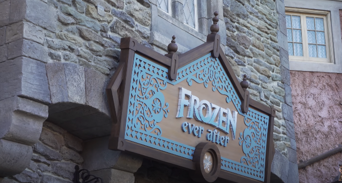 Frozen Ever After Ride video