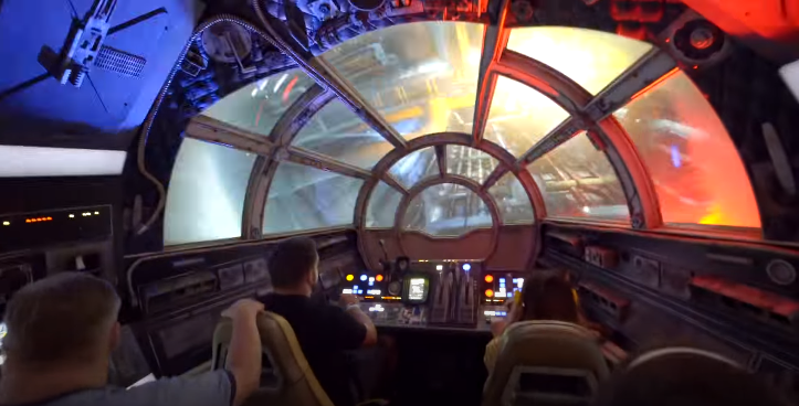 Star Wars Millennium Falcon Ride video
