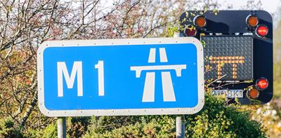 M1 motorway sign