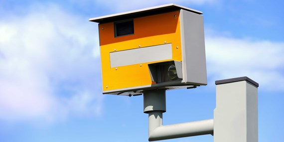 yellow grey speed camera
