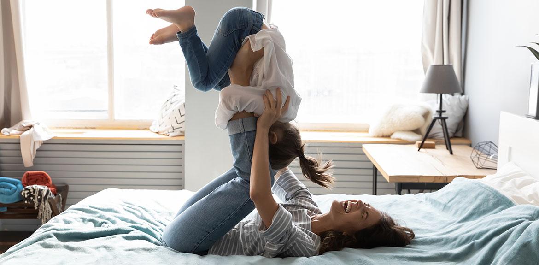 woman exercise girl