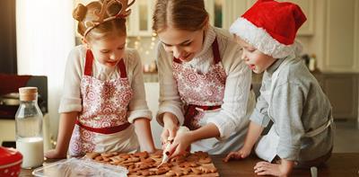 family christmas baking