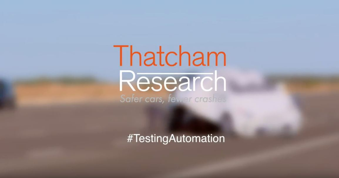 Thatcham research automation testing video still